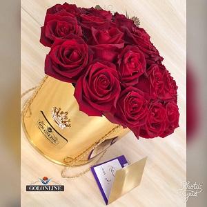 باکس گل طلایی